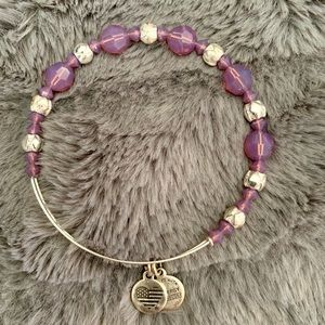 Purple beaded Alexi and Ani bracelet